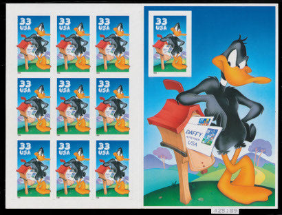 Daffy Duck complete sheet stamps