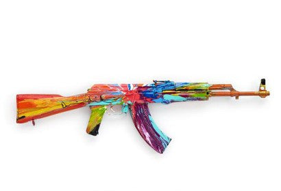 Damien hirst AK-47 Spin Peace One Day