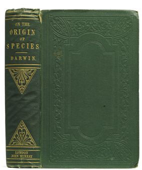 A first edition of Darwin's On The Origins of Species most recently sold for $131,450