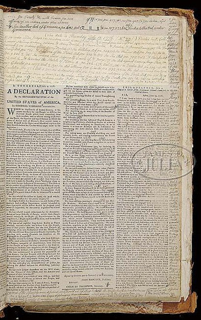 Declaration of Independence newspaper