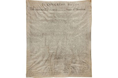 Declaration of Independence auction