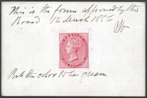 1 shilling stamp proof (signed Ormond Hill)