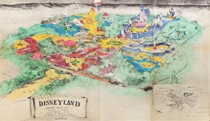 Disneyland prospectus map walt disney auction memorabilia