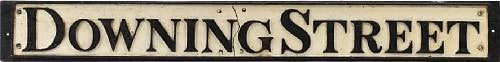 Downing Street Sign 19th century