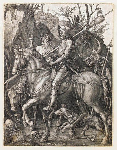 Durer engraving Knight Death Devil