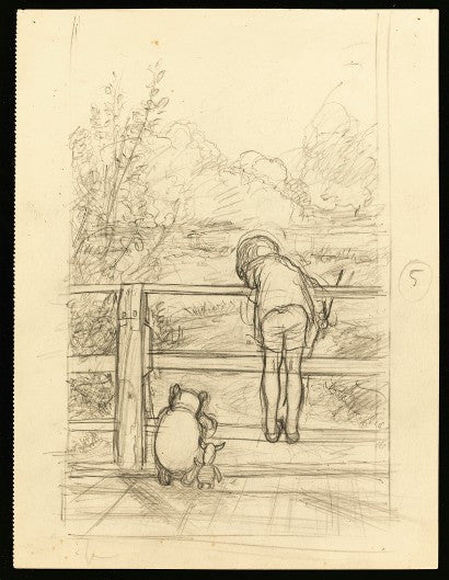 EH Shepard Winnie the Pooh Sotheby's