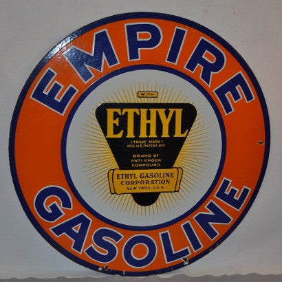 Porcelain Empire Gasoline sign
