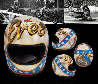 Evel Knievel's Wembley crash helmet