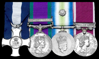 Falklands War Army Bomb Disposal DSC medal group