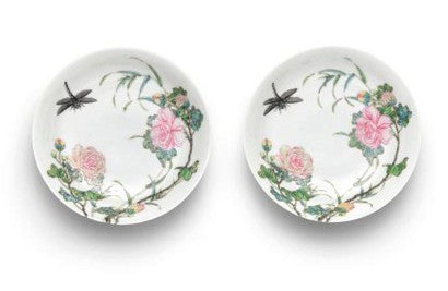 Famille rose dishes
