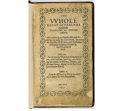 Bay Psalm Book auction first most valuable US published