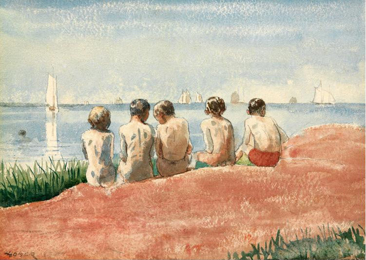 Five boys at the Shore Winslow Homer