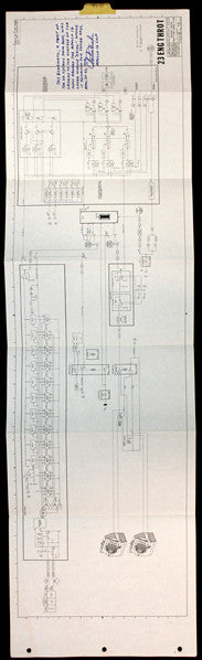 Flown Apollo 16 descent schematic page