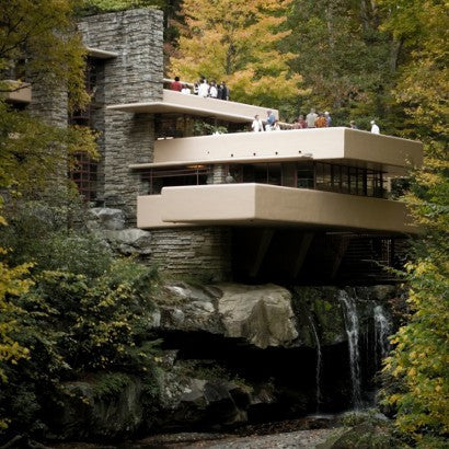Frank Lloyd Wright's Fallingwater blueprints