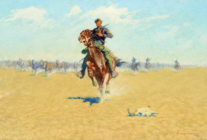 Frederic Remington Cutting out Pony Herds