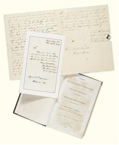 Fremont autograph sigend letter collection