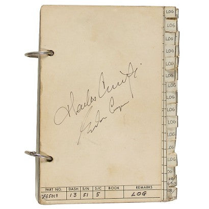 The log book from the Gemini 5 spaceflight