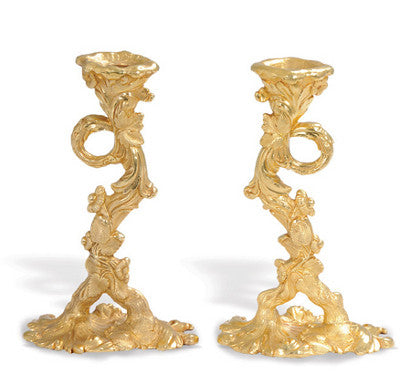Gene Autry Gold Candlesticks