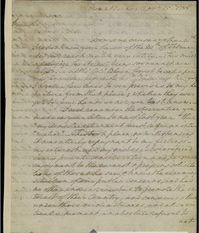 George Washington signed Constitution letter