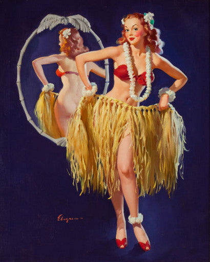 Gil Elvgren's I hope the boys don't draw straws tonight