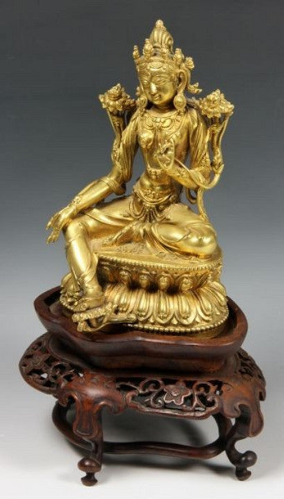Gilt bronze figure, Sino-Tibet, 19th century