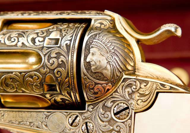 Gold-plated Colt Indian image