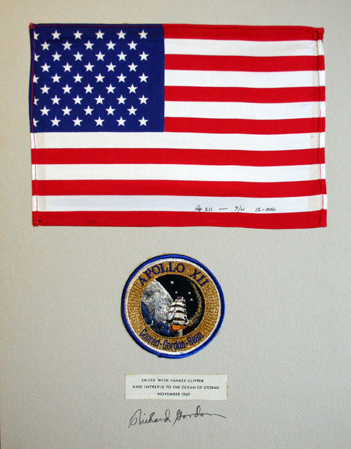 Richard Gordon US Flag Apollo 12 XII