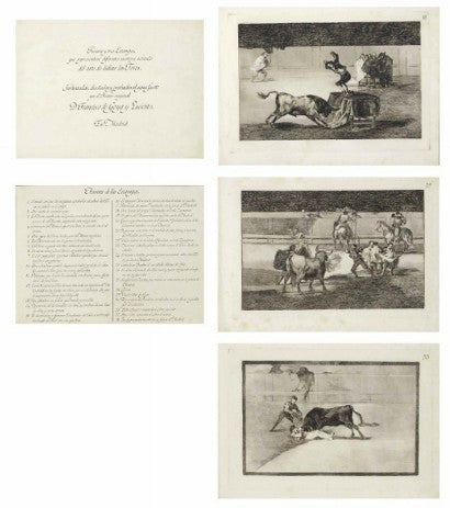 Goya La Tauromaquia auction