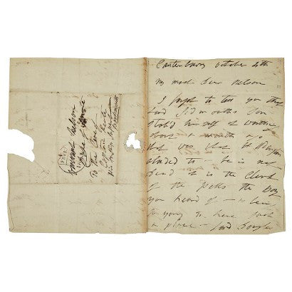 Lady Hamilton Lord Nelson signed letter