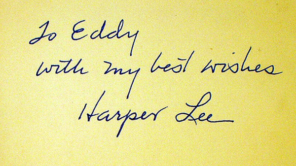 Harper Lee's signature in To Kill a Mockingbird