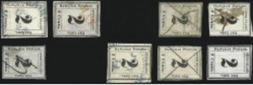 Hawaii 2c Black stamps