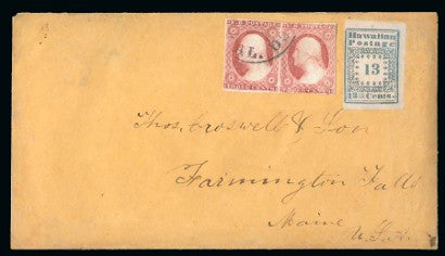 Hawaiian Postage 13c cover