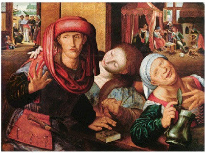 Hemessen's The Prodigal Son in the Tavern among Whores