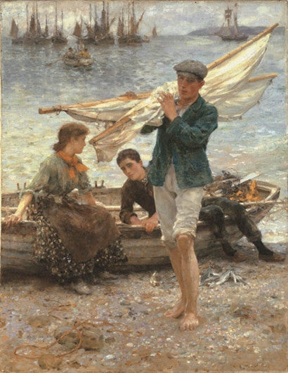 Henry Scott Tuke return from fishing