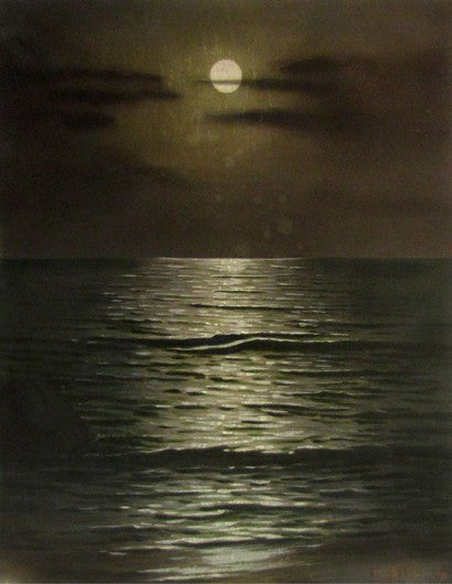 Hitler moon seascape painting