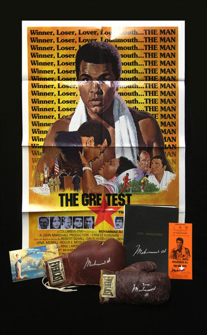 Hollywood collection of Muhammad Ali autographed memorabilia