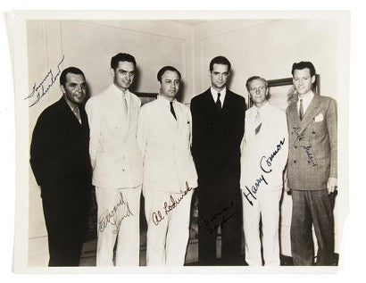 Howard Hughes auction archive photograph signed