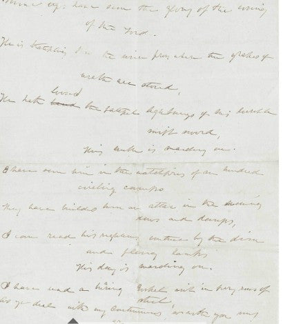 Julia Ward Howe Battle Hymn of the Republic draft manuscript