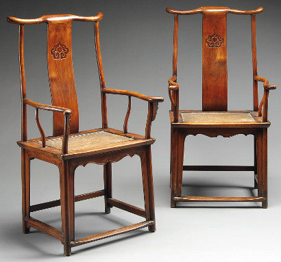 Huanghuali yoke back chairs