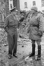 Patton (right) with Eisenhower