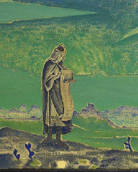 A detail from Nicholas Roerich's Legend ($1,145,200-1,472,400)