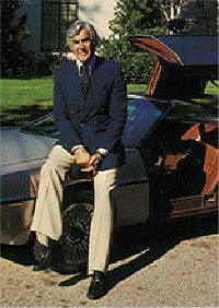 John DeLorean photographed with the DMC-12
