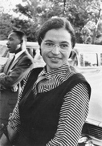 Rosa Parks photographed with Martin Luther King Jr