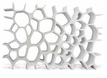Marc Newson's 'Voronoi' white Carrara marble shelf ($150,000-200,000)