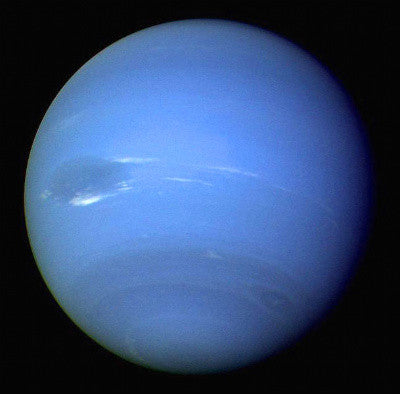 The planet Neptune, discovered in 1846