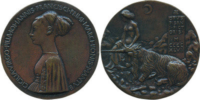 Portrait medal of Cecilia Gonzaga by Antonio Pisano