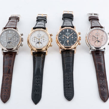 Set of four Patek Philippe Perpetual Calendars, Ref. 3970E ($640k)