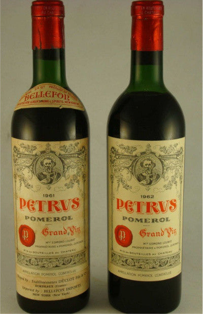 A duo of legendary Pétrus vintages: the 1961 and 1962