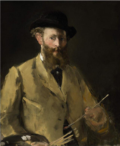 Self-portrait with a Palette by Edouard Manet