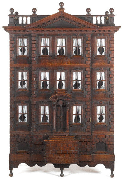 A rare George II Palladian carved mahogany Baby House